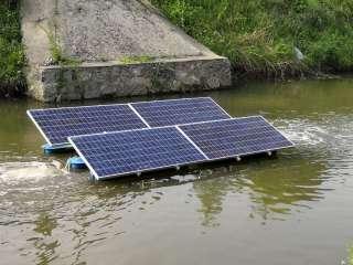 太阳能两用潜水推流搅拌曝气机